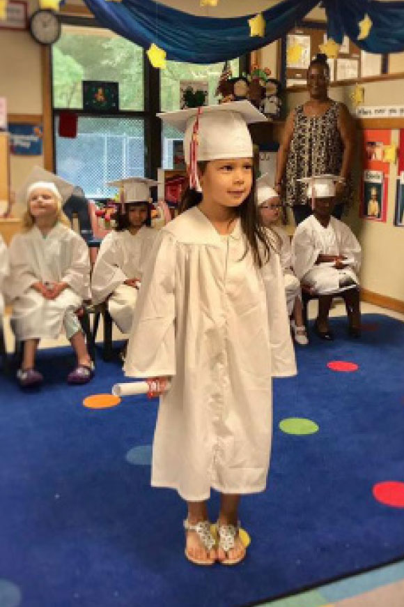 Ginelle graduating from Pre-K